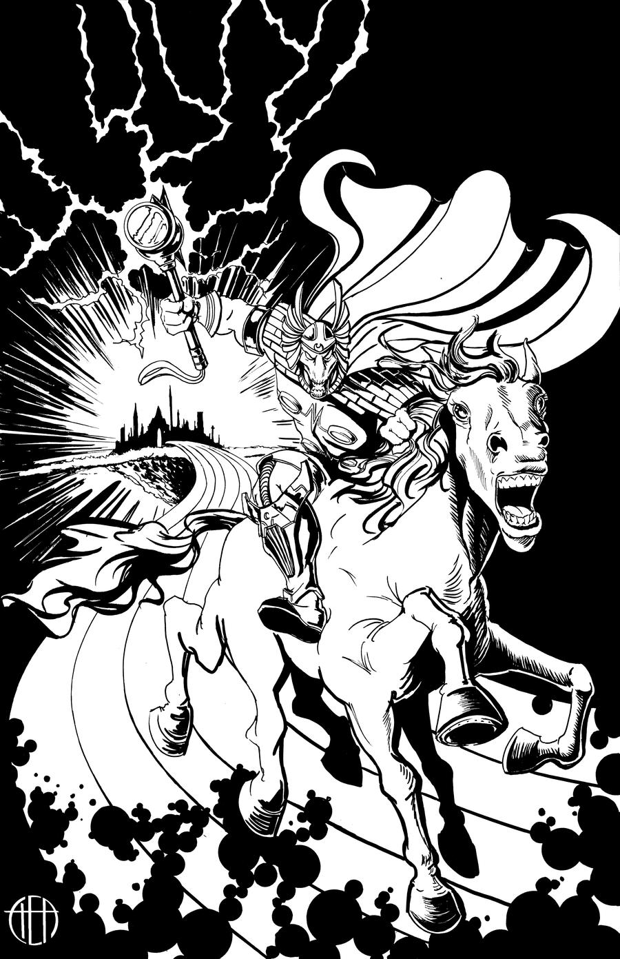 Beta Ray Bill #1 - INKS by Theamat
