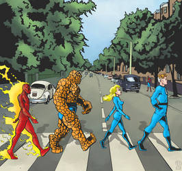 Fantastic Four - Abbey Road by Theamat
