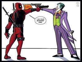 Deadpool Meets the Joker by Theamat