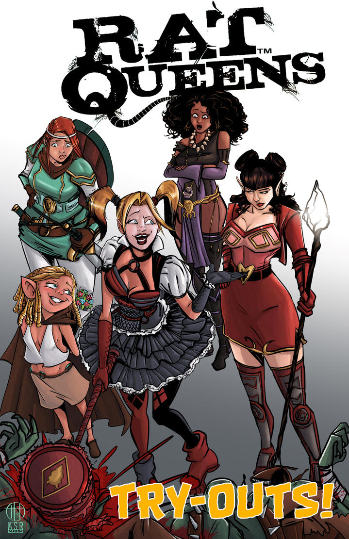 Harley Quinn and the Rat Queens by Theamat