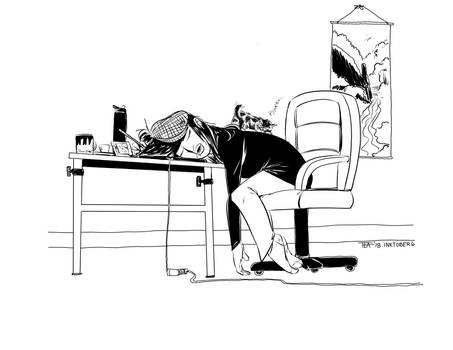 Inktober #6 - Drooling