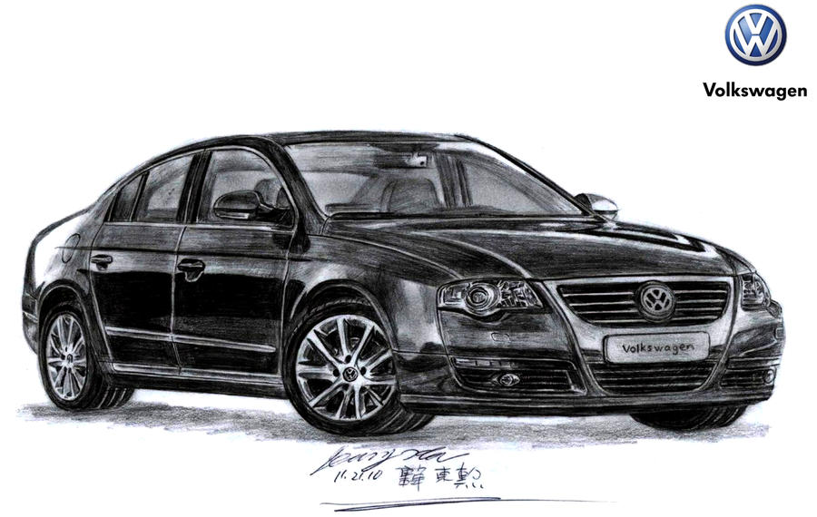volkswagen passat drawing by toyonda