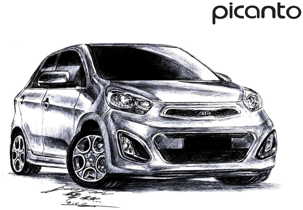 kia picanto slx premium 2012 drawing by toyonda on deviantart. Black Bedroom Furniture Sets. Home Design Ideas