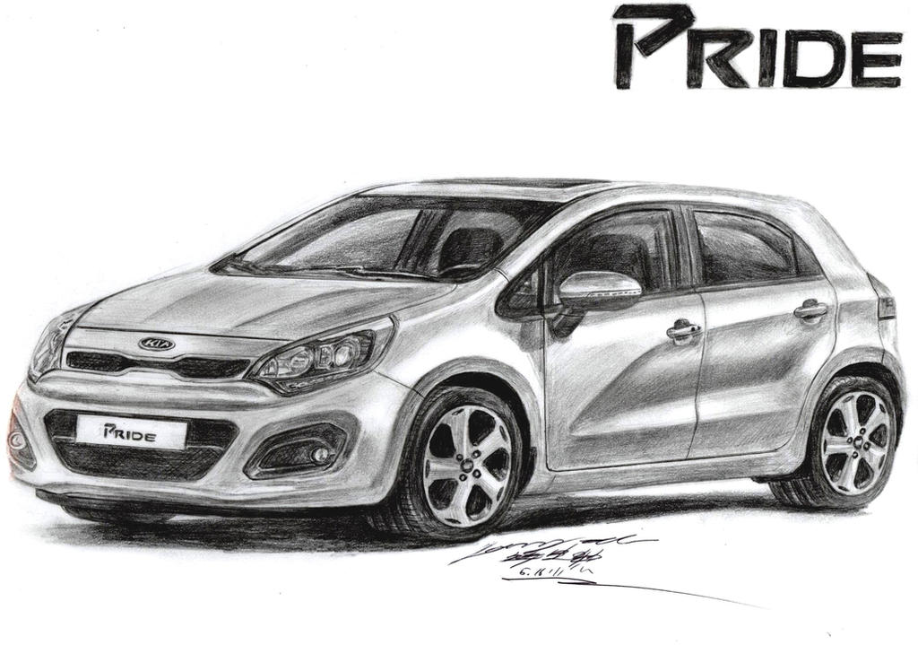 2013 kia rio slx premium 1 6 gdi hatchback drawing by. Black Bedroom Furniture Sets. Home Design Ideas