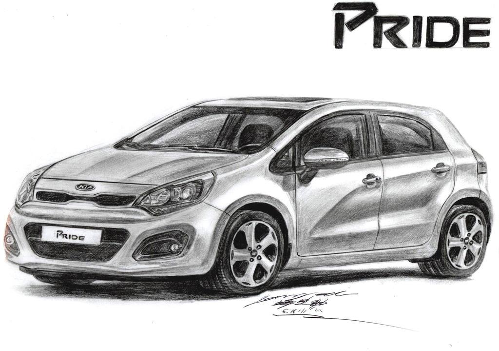 2013 kia rio slx premium 1 6 gdi hatchback drawing by toyonda on deviantart