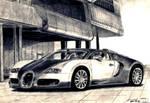 Bugatti EB Veyron 2009 Drawing by toyonda