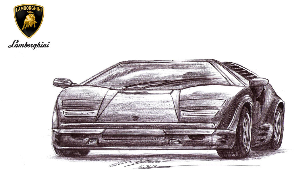 Drift Queen S Lamborghini Countach 25th Annivers By