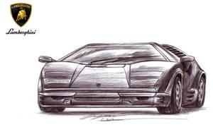 Drift Queen's Lamborghini Countach 25th annivers.