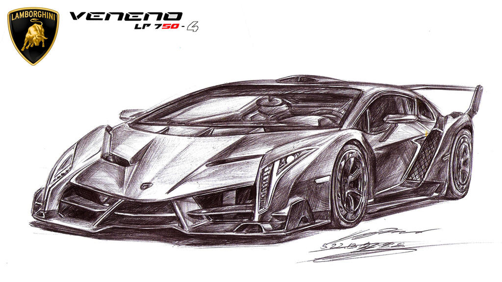 Lamborghini Drawing Veneno Lp Ultimate Exotic By Toyonda On