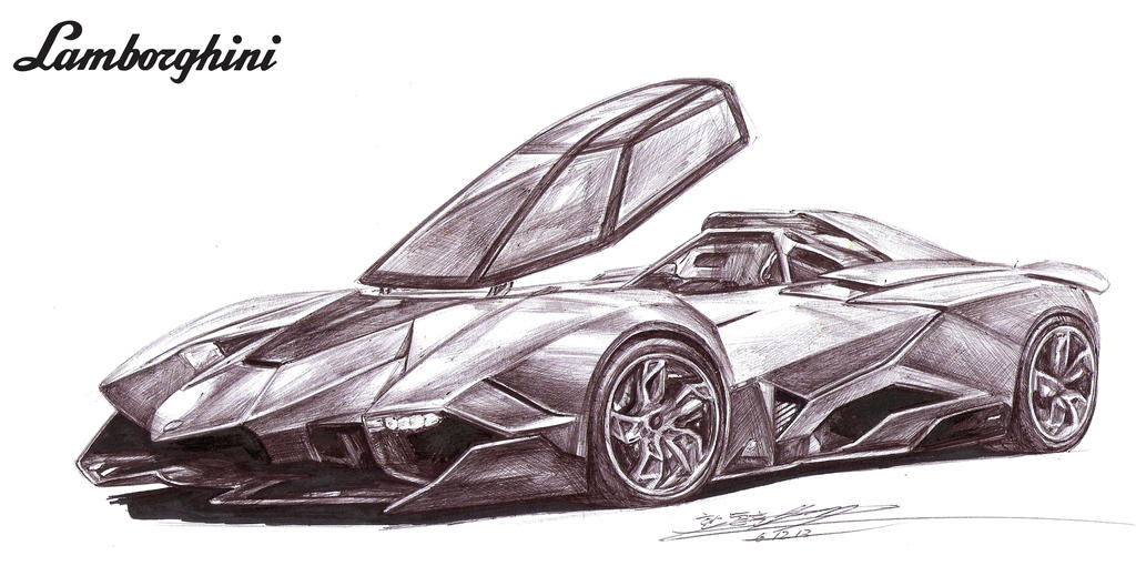 Lamborghini Egoista Single Seater Drawing By Toyonda On Deviantart