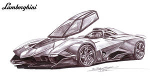 Lamborghini Egoista Single Seater Drawing