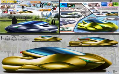 2043 Hyundai Delphina Bio-Coupe Concept Design