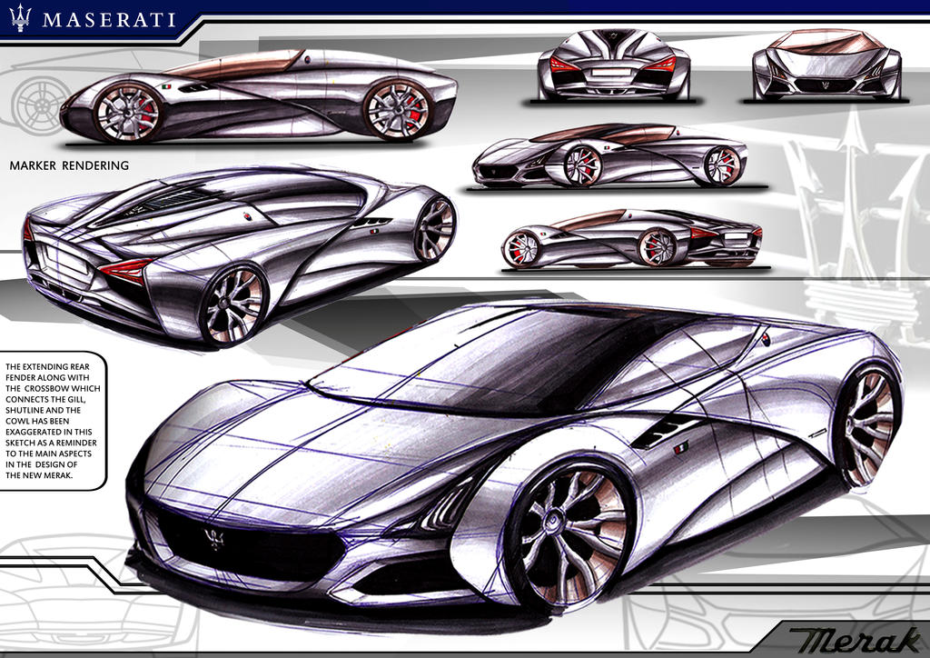The Art Of The Sports Car The Greatest Designs Of The >> Marker Render Maserati Merak Concept by toyonda on DeviantArt
