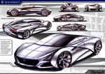 Marker Render Maserati Merak Concept