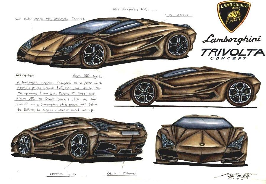 Lamborghini Trivolta Design Concept By Toyonda On Deviantart