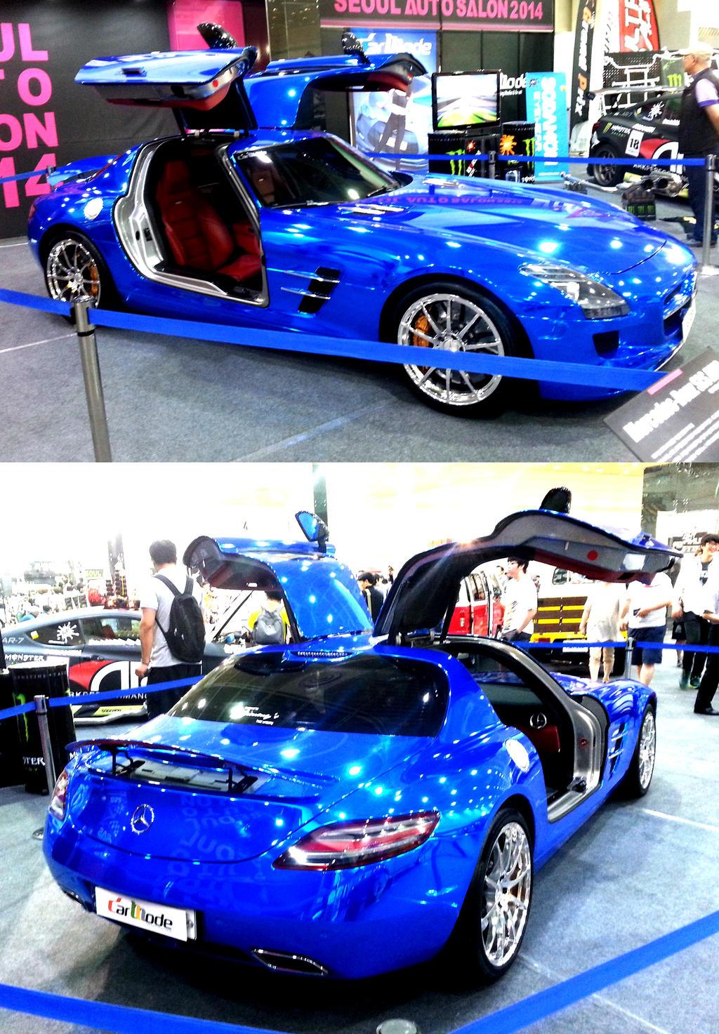 Metallic Custom Blue SLS AMG by toyonda