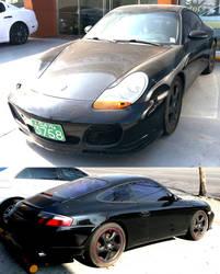 Black Porsche Coupe by toyonda