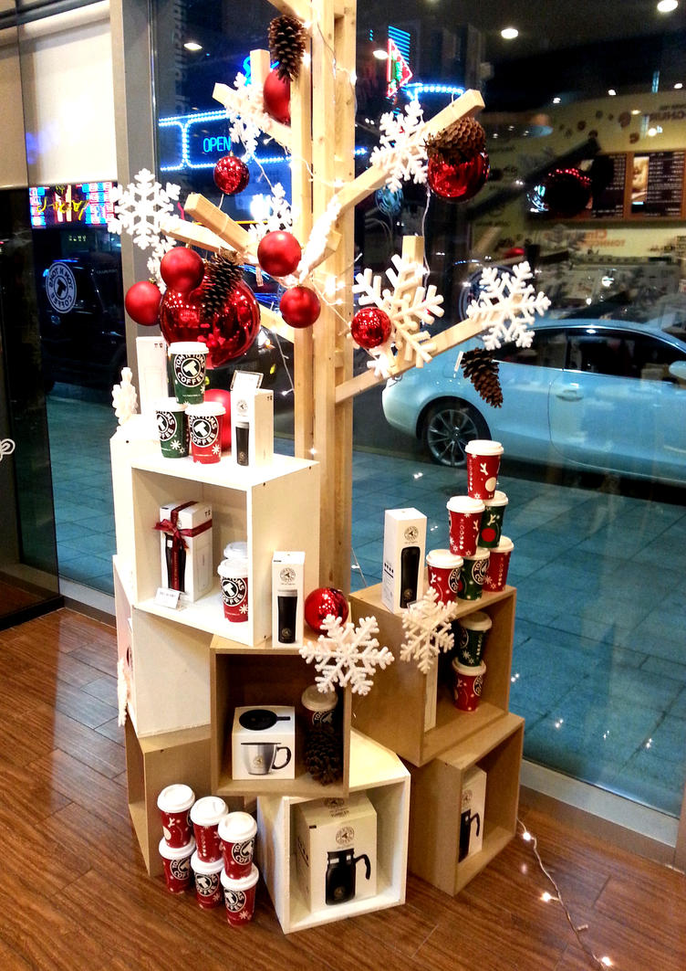 Coffee Shop Christmas Decoration By Toyonda ...