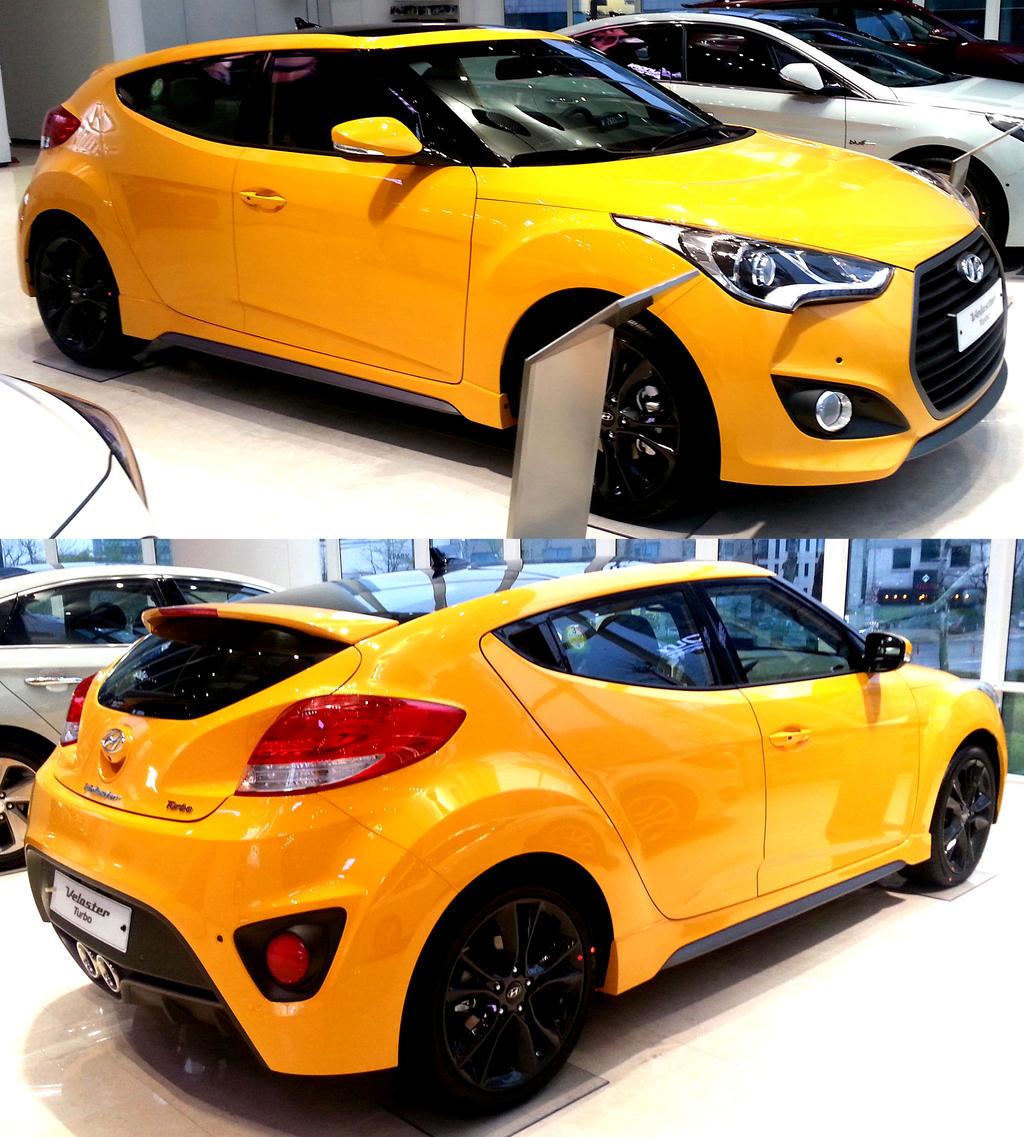 Hyundai Veloster Wallpaper: Yellow Veloster Turbo By Toyonda On DeviantArt