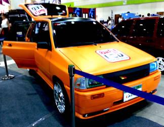 Orange Korean Ford Festiva Station Wagon by toyonda