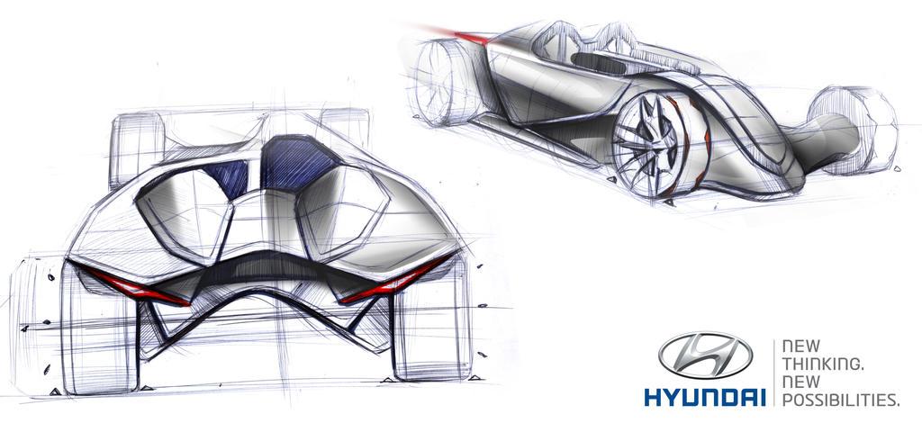 Asymmetrical Hyundai Roadster Concept Design by toyonda