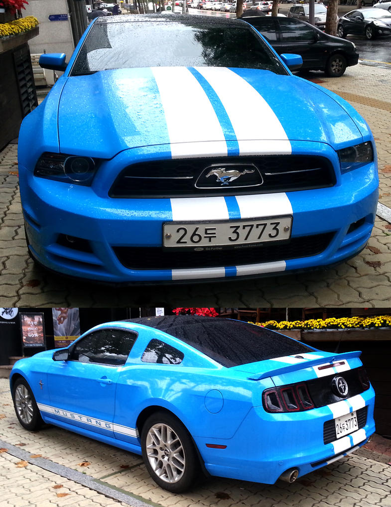 Blue Mustang by toyonda