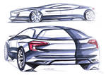 Infiniti Coupe and Citroen DS5 Sketch