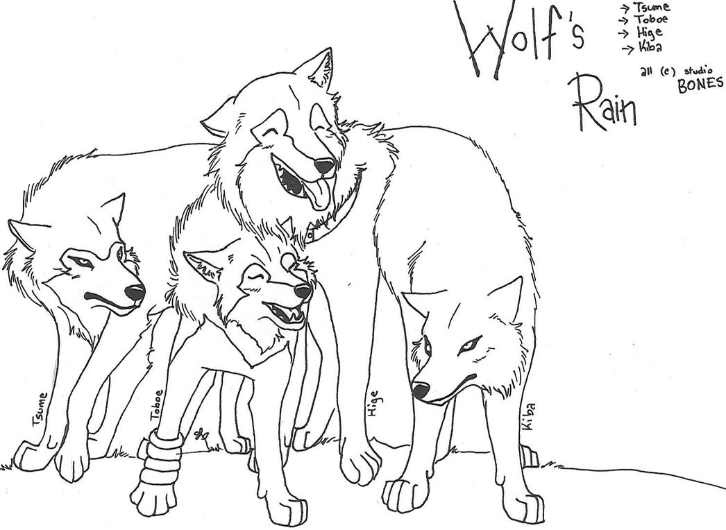 wolf rain coloring pages - photo#8