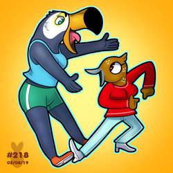 Daily #219 - Tuca and Bertie by ConfusedEWE