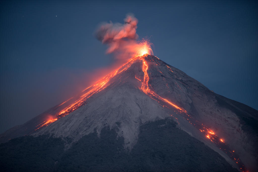 Fuego erupts in Guatemala by SantiBilly