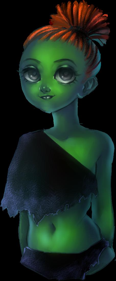 Green lady by AnnyLi06