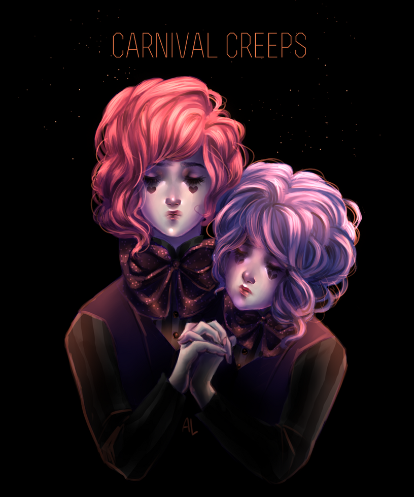 Drawlloween day 2 - carnival creeps by AnnyLi06
