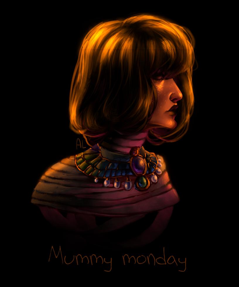 Drawlloween day 3 - mummy monday by AnnyLi06