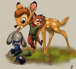 Little Judy, Nick and Bambi