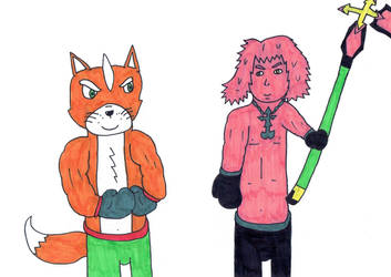Boxing Fox McCloud VS Marluxia by Soraheartsforme