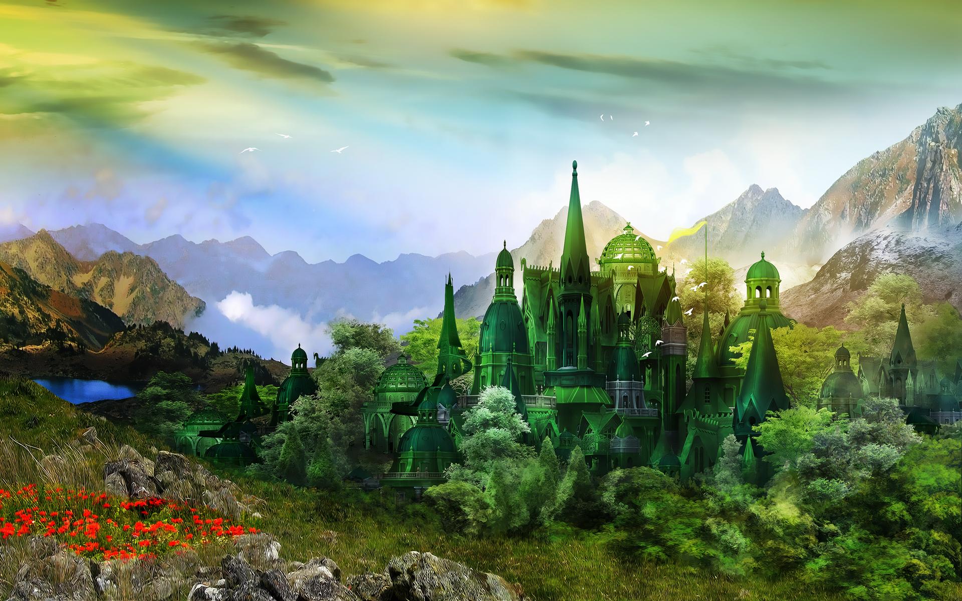 Волшебный город своими руками