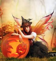 Pumpkin Fae by InertiaRose