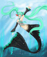 Vocaloid -MIKU mermaid :3 by Sparkly-Monster