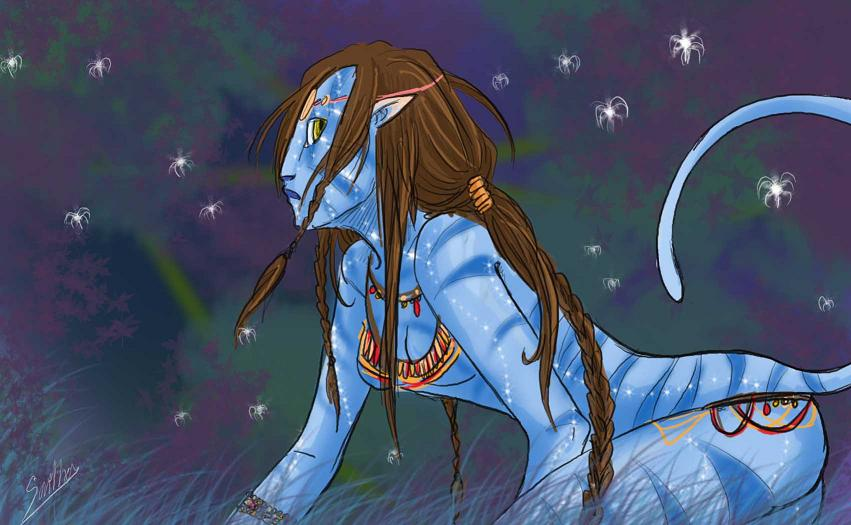 Avatar girl by Sparkly-Monster on DeviantArt: sparkly-monster.deviantart.com/art/Avatar-girl-151106706