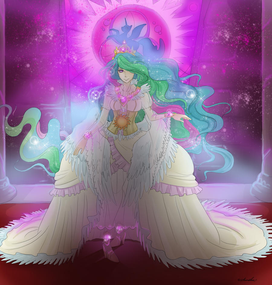 Princess celestia by Sparkly-Monster