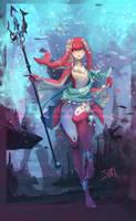 Mipha, zora princess by Sparkly-Monster