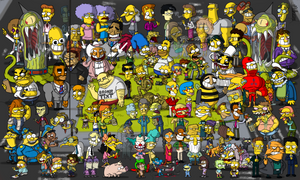 100 Simpsons Characters