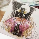 Watercolor sketchbook: Moonlight