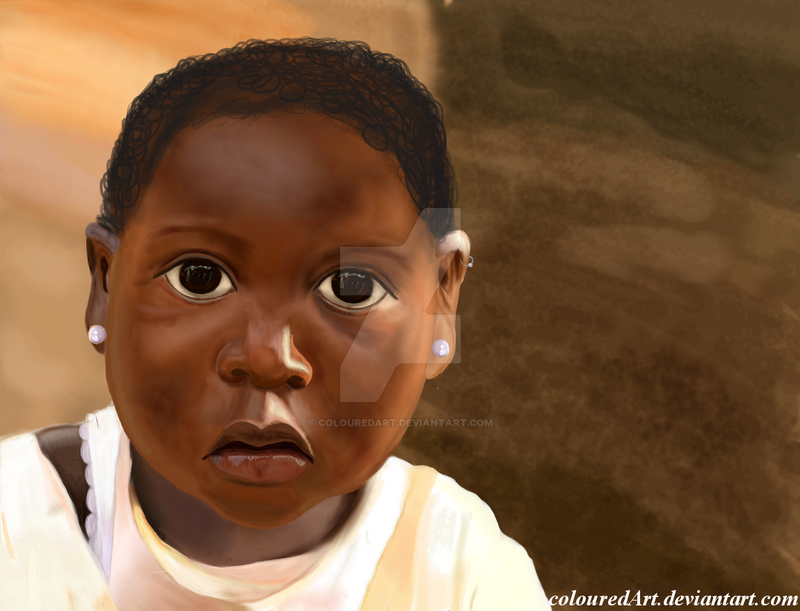 African Child by ColouredArt