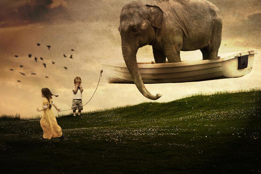 la bambina e l'elefante..... by danielepicchianti