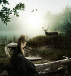 Lady Of The Deer by danielepicchianti