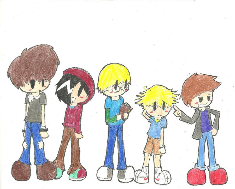 Five boys one cartoon comic by imetaknight on deviantart