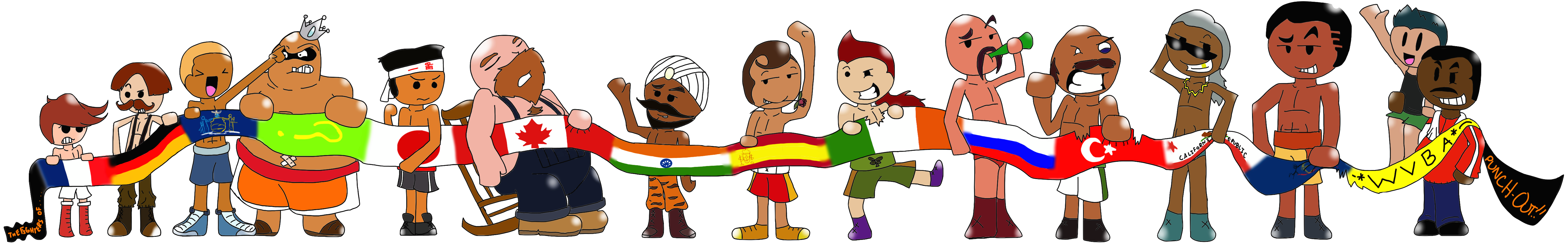 The Fighters Of Punch-Out!! by iMetaKnight