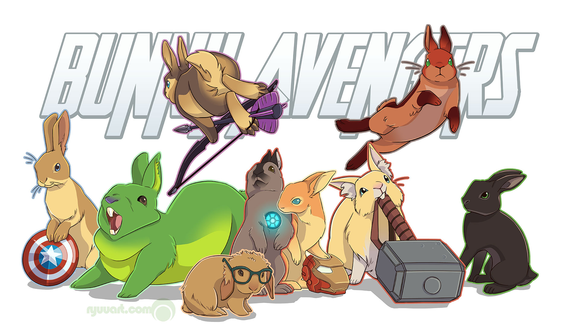 bunny avengers assemble! by alienfirst