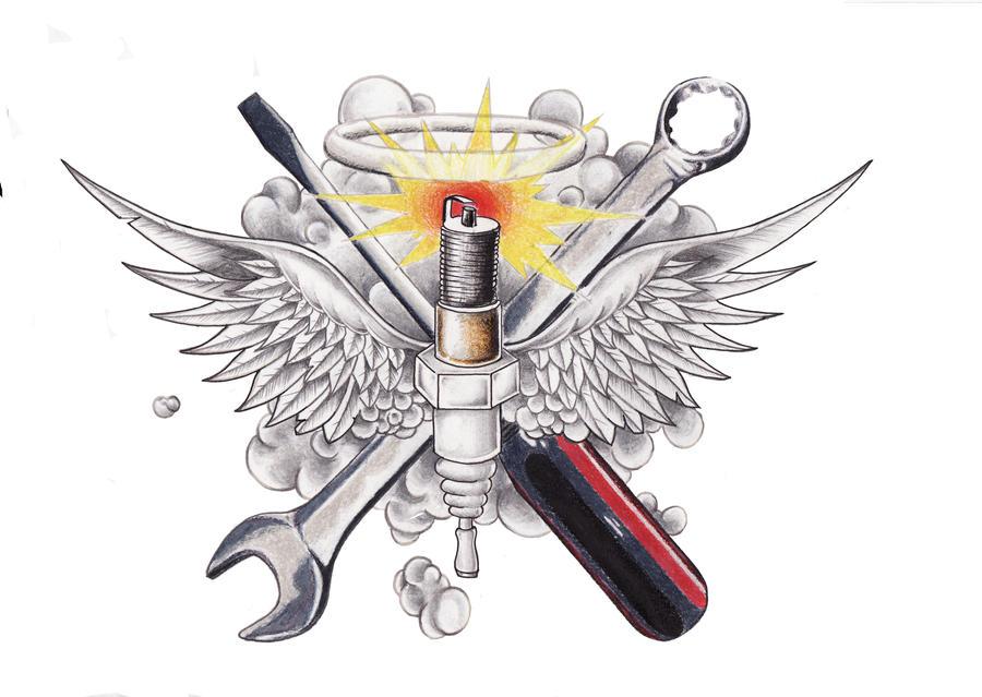 Tattoo design for my mechanic by akean1 on deviantart for Mechanic tattoo ideas